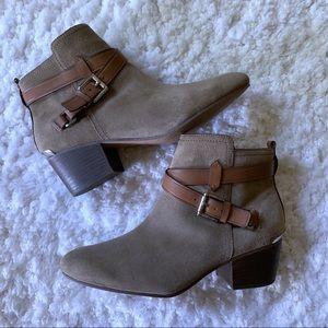 COACH Pauline Nubuck Leather Ankle Boots SZ 8.5